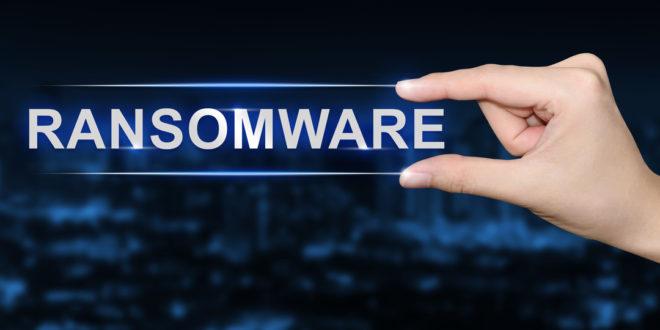 ransomware button